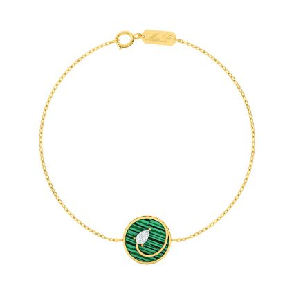 Style Struck Bracelet, in 18 K yellow gold and green Mother of Pearl