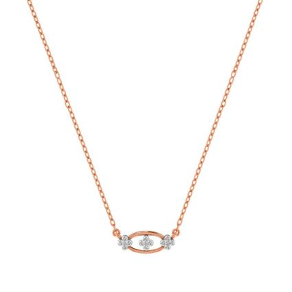 The Flower Eye Necklace in yellow gold and diamond