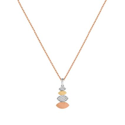 All Eyes on Me Gold and Diamond Necklace