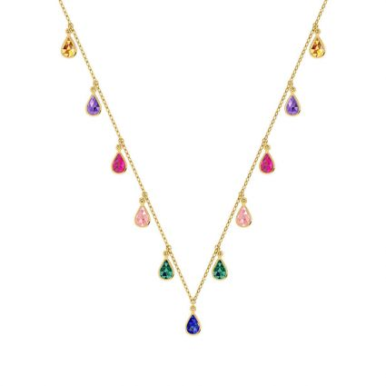The Colorful Necklace in 18K yellow gold and colored stones