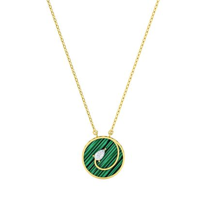 Style Struck Necklace, in 18 K yellow gold and green Mother of Pearl