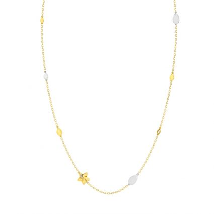 Gem Necklace in 18K Yellow and rose Gold