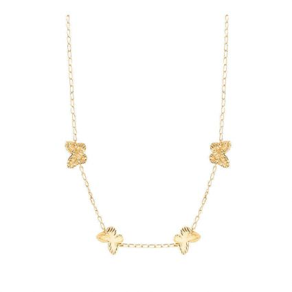 Smooth Butterfly Necklace, in 18 K yellow gold
