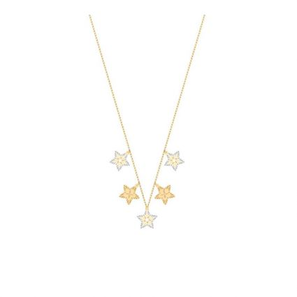 Shining Star Necklace, in 18 K White and Yellow Gold