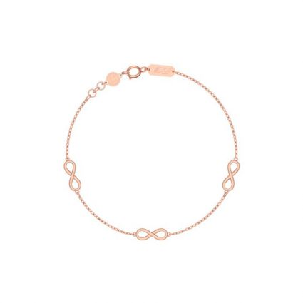 Classic Infinity Bracelet, in 18 K Yellow and Rose gold