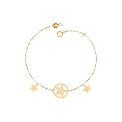Sparkling star Necklace, in 18 K Yellow Gold