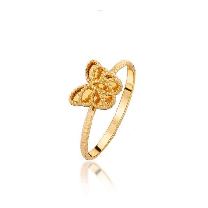 Golden Butterfly Ring, in 18 K yellow gold