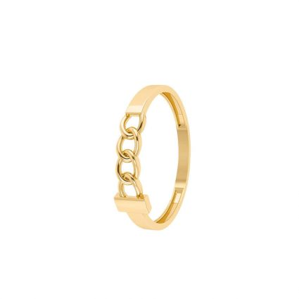Classic Link Ring 18 K yellow gold