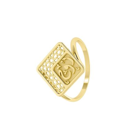 The Magic of Oriental Souls Ring in 18 K yellow gold-eg