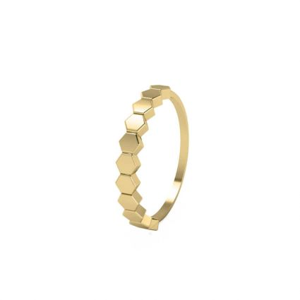 Crown Me Ring, in 18K yellow gold