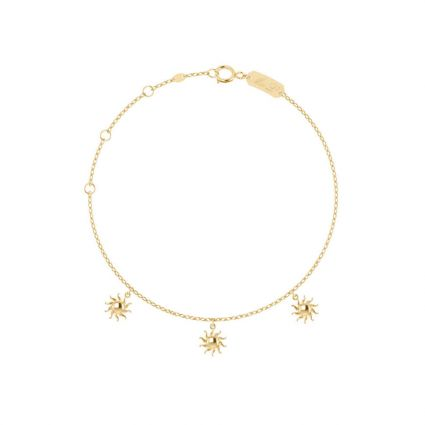 Happy Sunshine Anklet in 18 K yellow gold