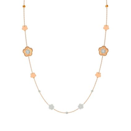 Blossom necklace in 21K yellow gold