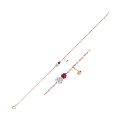 Love Forever Bracelet in 18K rose gold, rubies and diamonds